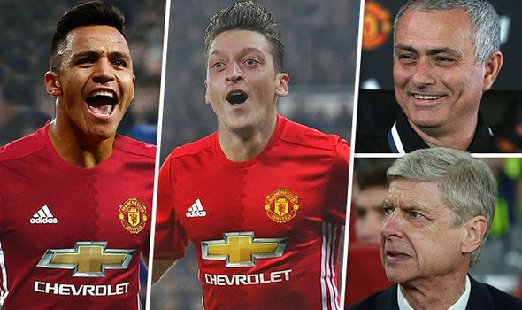 Jose Mourinho eyes stunning double move for Arsenal stars Alexis Sanchez and Mesut Ozil