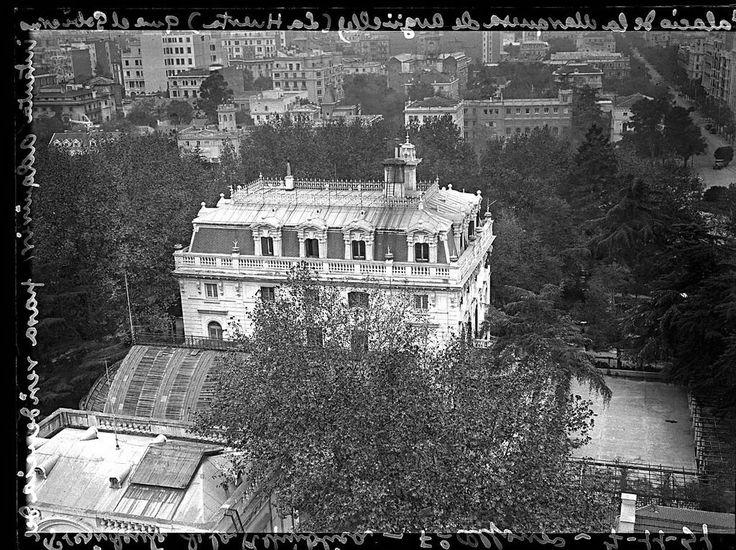 Palacete en la calle Serrano. Donde hoy se encuentra la embajada americana. Madrid