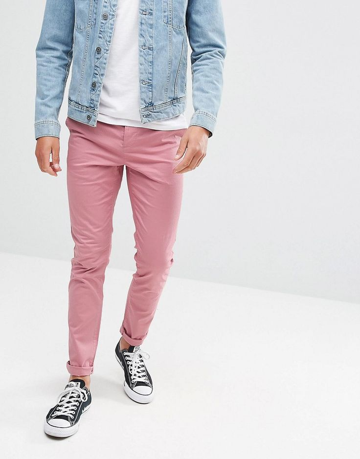 ASOS Skinny Chinos In Dusty Pink - Pink