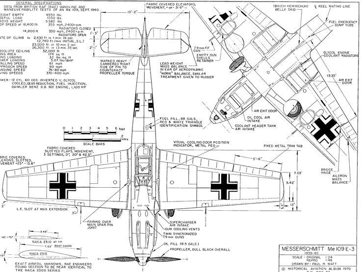 Bf me 109 messerschmitt original blueprint plans archive period aircraft messerschmitt bf 109e 1939 smcars car malvernweather Choice Image