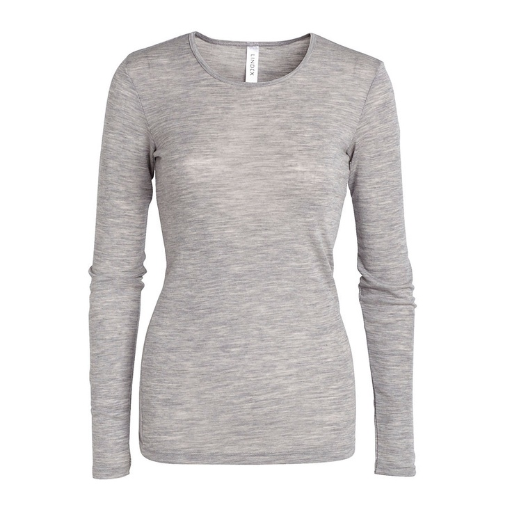 Merino wool top Grey EUR29,95 | Lindex | Item code:6827064