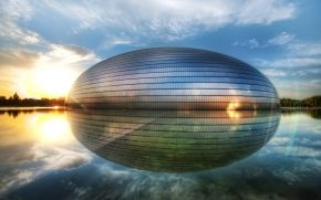 Китай, Пекин, Национальный центр исполнительских искусств, Яйцо, Чжуннаньхай