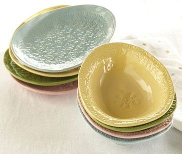 Charlotte Egg Bowls - contemporary - holiday decorations - Pottery Barn