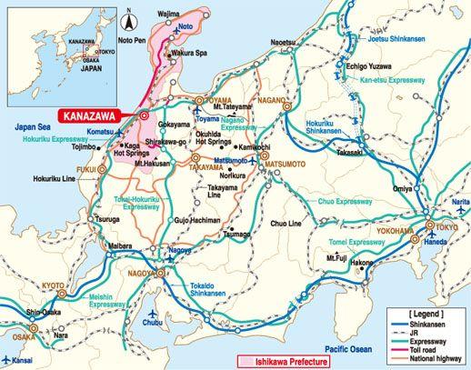 Best Kanazawa Japan Ideas On Pinterest - Japan map kanazawa