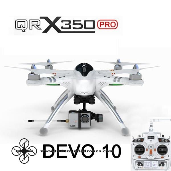 Walkera QR X350 Pro FPV GPS RC Quadcopter DEVO 10 For Gopro 3 RTF -- 590,91€