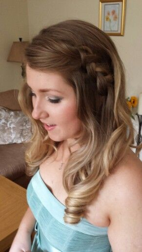 Soft curls and Indian plait