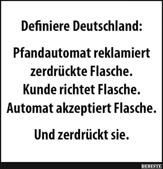 Definiere Deutschland.. | Lustige Bilder, Sprüche, Witze, echt lustig