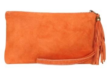 Milloe Orange Suede Purse. $54.95