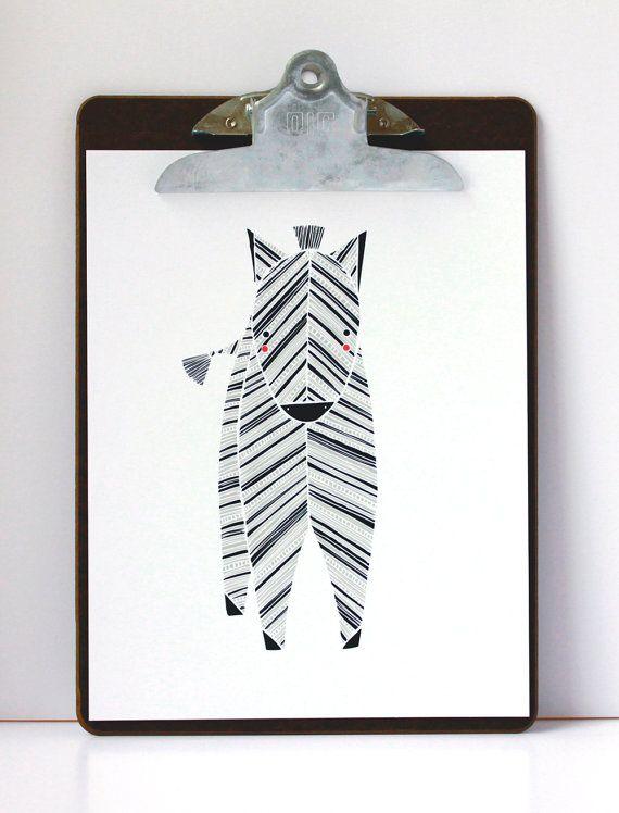 Zeek Zebra Illustration  Safari