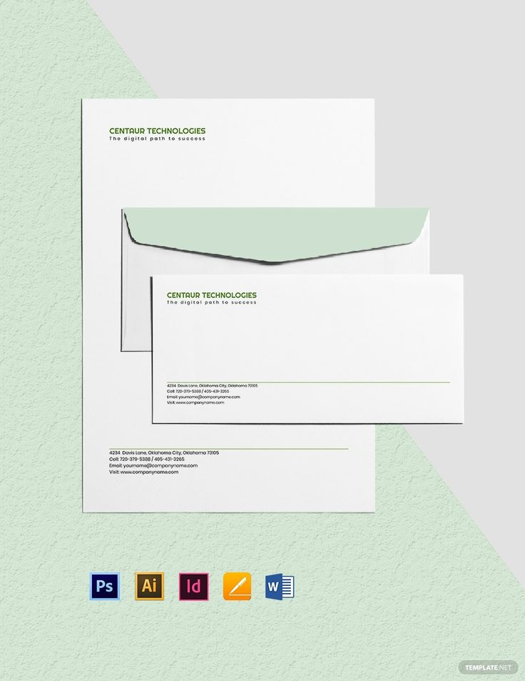 IT Services Envelope Template in 2020 Envelope template