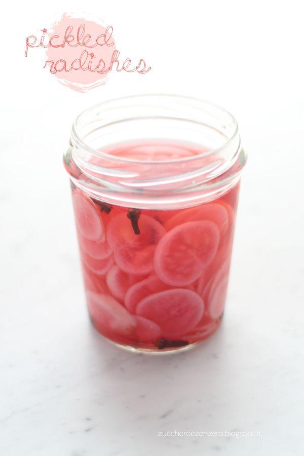 Pickled radishes: i ravanelli sott'aceto