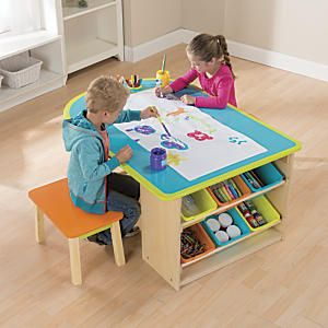 Kids Art Table Kid Art And Stools On Pinterest