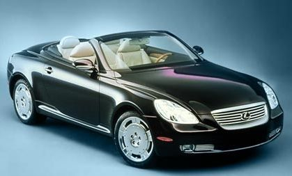 Lexus 430 SC. My dream car - can I have it in dark blue with a grey interior please???