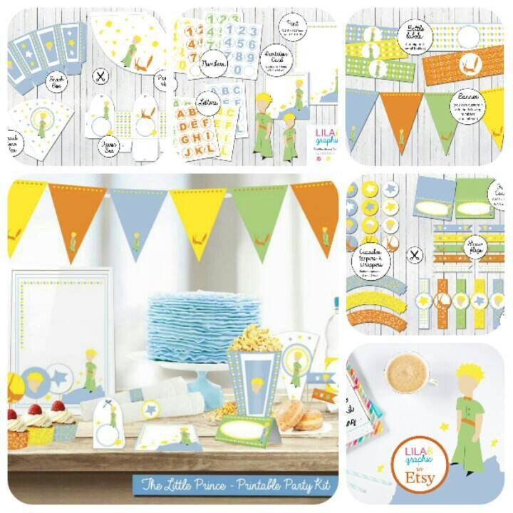 Festa a tema Il Piccolo Principe  The Little Prince Party Kit