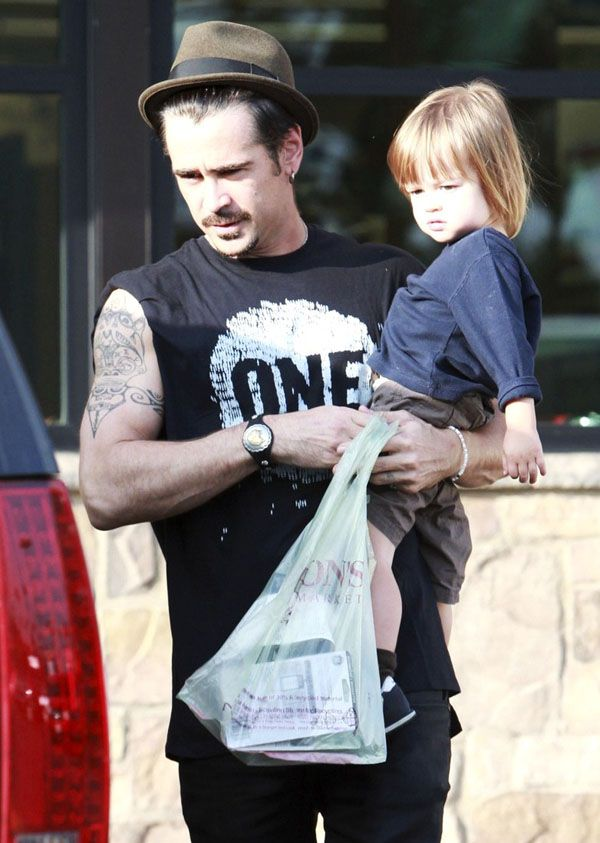 Happy Daddy's Day: The top 10 hottest celebrity dads!! TOP 9 : Colin Farell and little Henry share the same style!