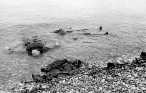 Canadian dead at Dieppe, August 1942