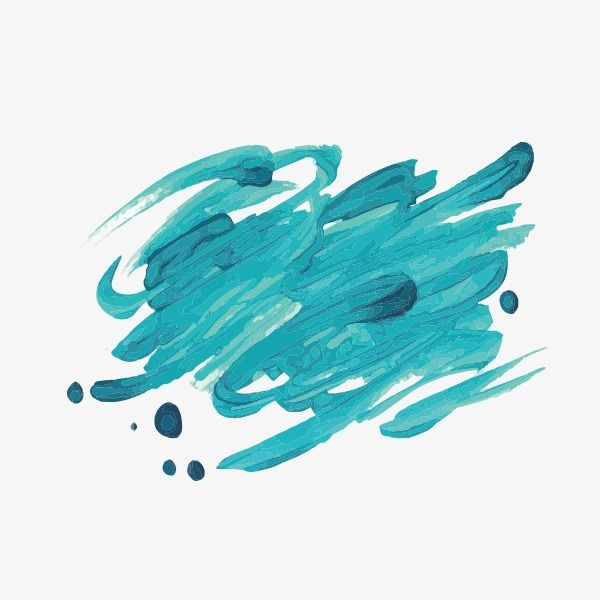 Blue Watercolor Brush Strokes Ink Vector Brush Effect Watercolor