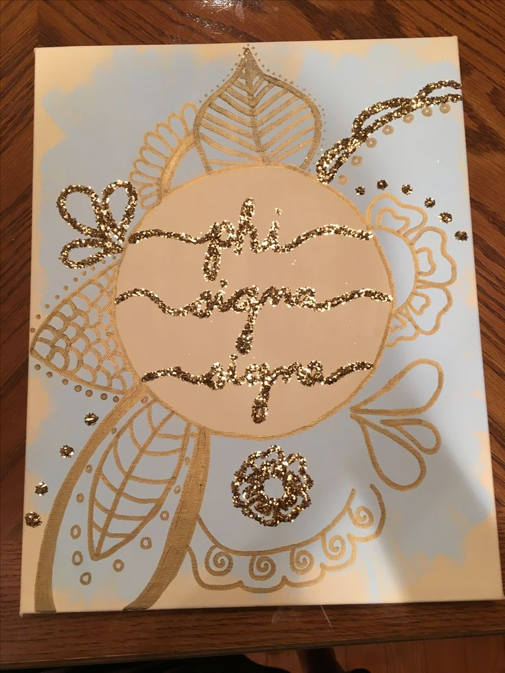 Phi Sigma Sigma craft / canvas / big little week / sorority
