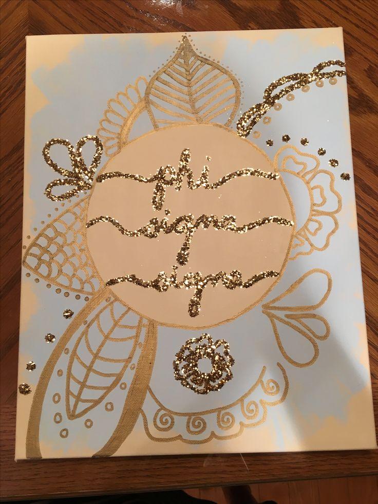 Phi Sigma Sigma craft / canvas / big little week / sorority