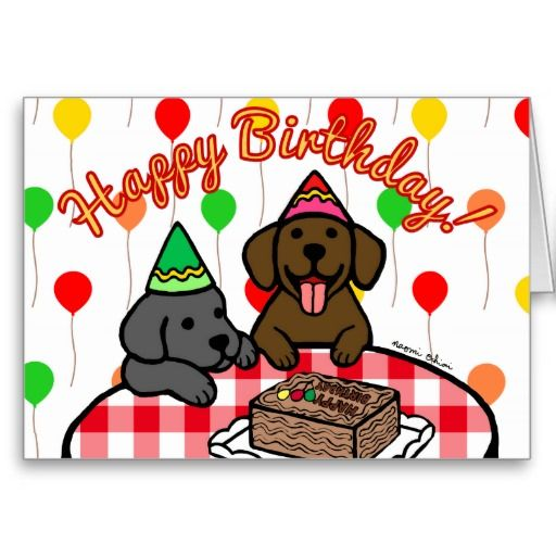 13 best Labrador Greeting Cards images – Labrador Birthday Cards