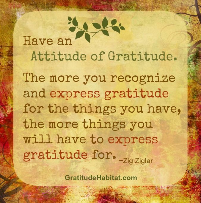 Thank you for the love, joy and kindness you bring into the world. www.GratitudeHabitat.com #attitude-of-gratitude #gratitude-quote #Zig-Ziglar-quote