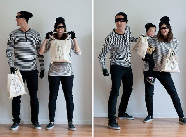 lustige faschingskostüme familie kind banditen bank ideen (Cool Crafts For Boys)