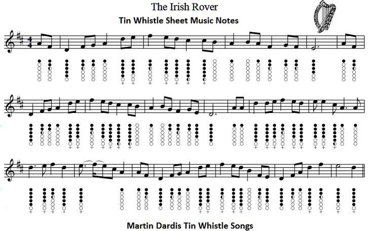 the irish rover tin whistle - Google Search