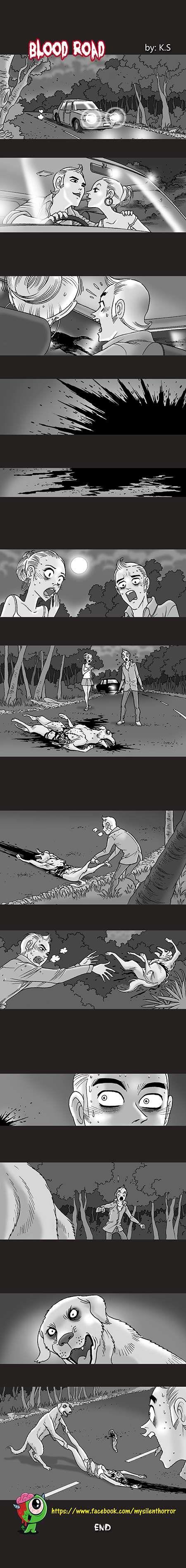Silent Horror :: Blood Road   Tapastic Comics - image 1
