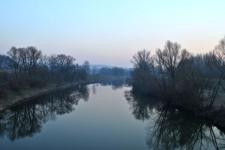 Morning on the Odra river