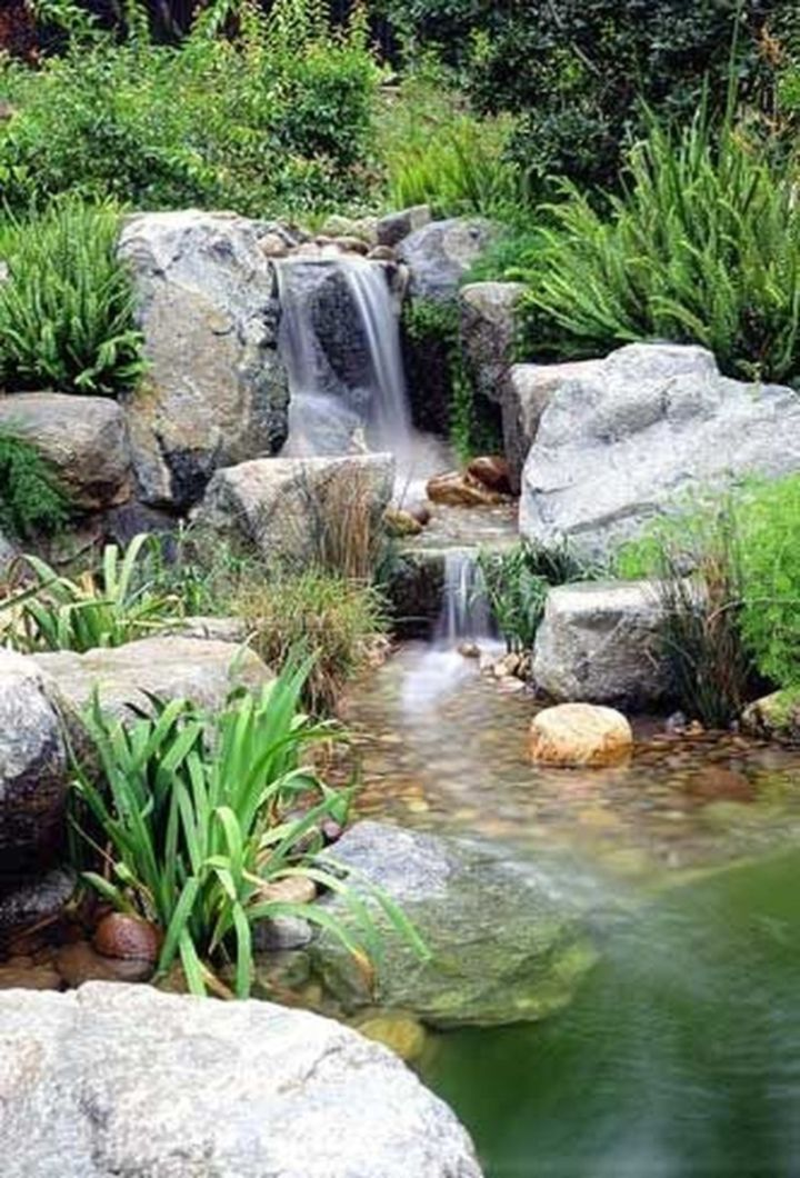 how to build a small koi pond waterfall