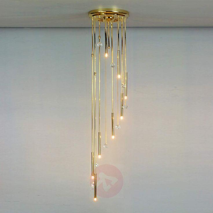 SPIRALE taklampe i gull med åtte lys-7253316-01