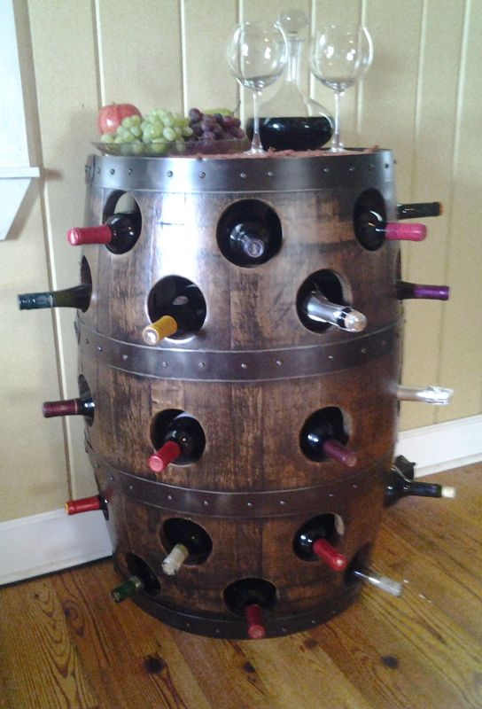 Whiskey Barrel Wine....... I Have to have this when we get our new house!! #DuVino #wine#barrels www.vinoduvino.com