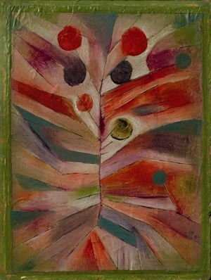 Paul Klee Federpflanze (Feather plant), 1919 Oil and ink on linen