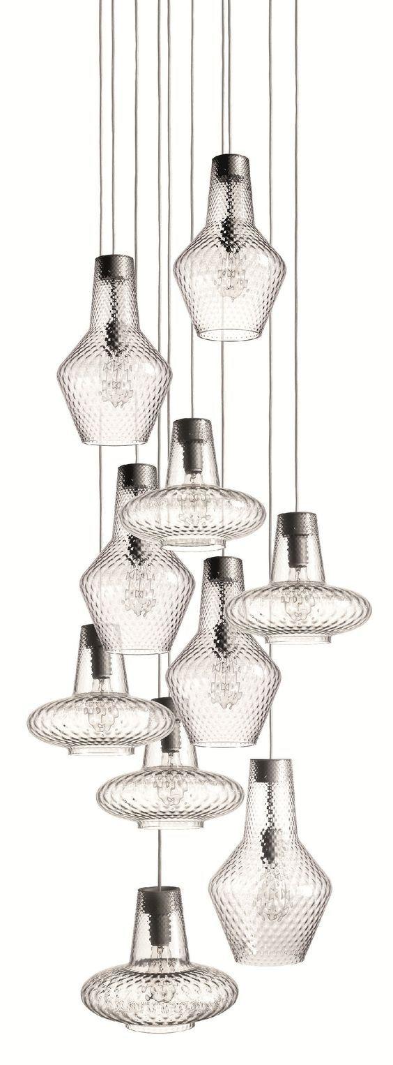 Blown glass pendant lamp ROMEO E GIULIETTA - FEDERICOdeMAJO