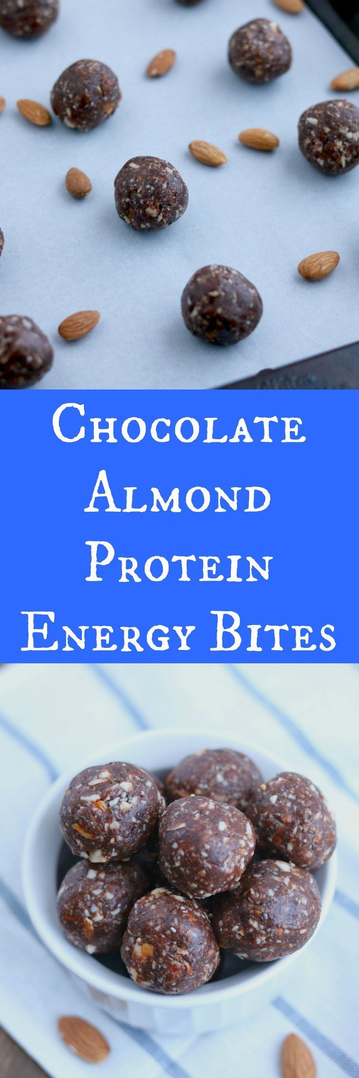 chocolate almond power energy bites