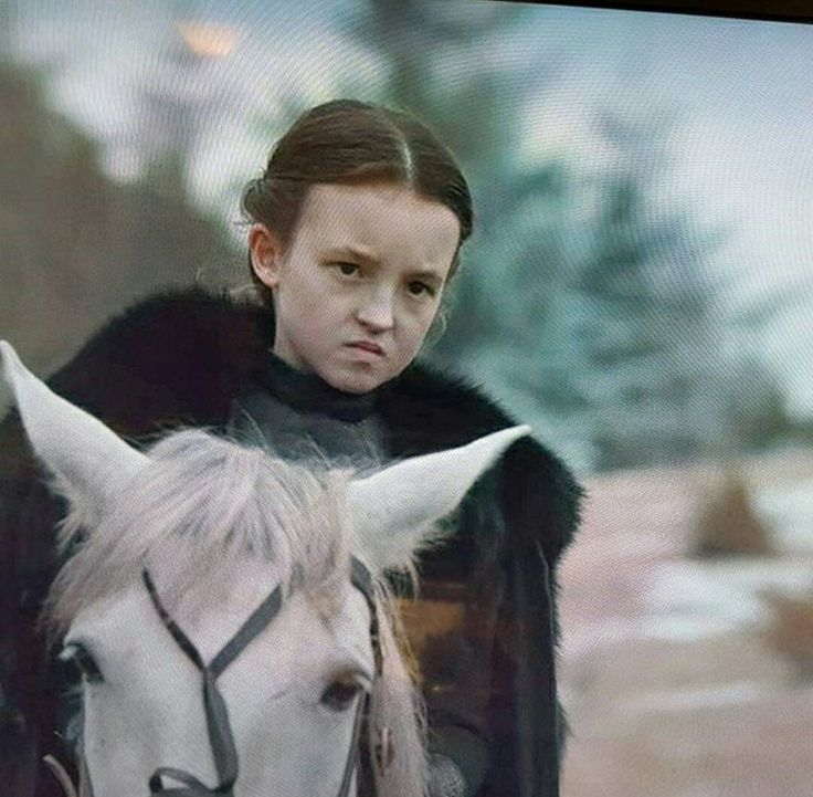 Lyanna Mormont. That face while listening to Ramsay