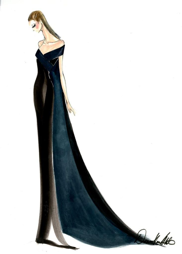 Emilia Clarke's Donna Karan Atelier gown at the SAG Awards 2015