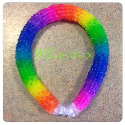 Rainbow Loom Hexafish 6 Pin Fishtail Bracelet Made with Clear Bands | eBay