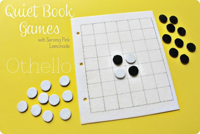 Quiet Book idea - Felt Othello game board...could this become a giant game instead?
