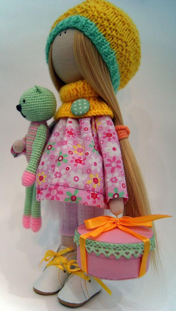 Handmade doll Art doll Soft doll Tilda doll by AnnKirillartPlace