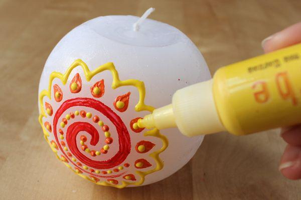 Einfache Anleitung Wie Man Sommerliche Kerzen Verzieren Kann