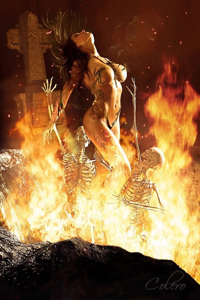 digested by the flames she shell resurrect and live for ever