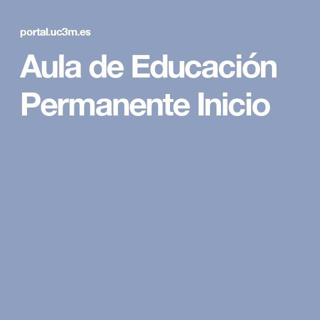 Aula de Educación Permanente Inicio