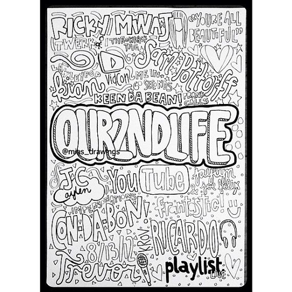 Collage drawing of Youtube's 'our2ndlife' channel