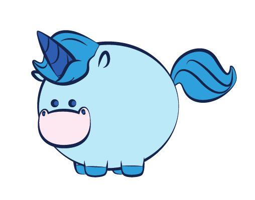 cute chubby unicorn for - photo #22