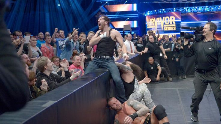 Dean Ambrose, Kane & James Ellsworth vs. The Wyatt Family: photos