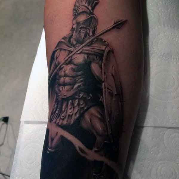 50 Spartan Tattoo Designs For Men - Masculine Warrior Ideas