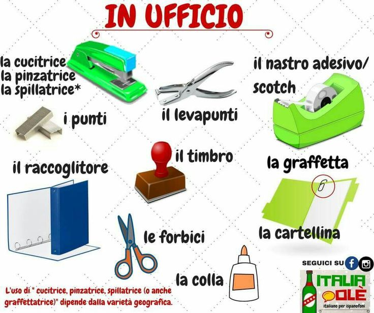Italian Office Vocabulary