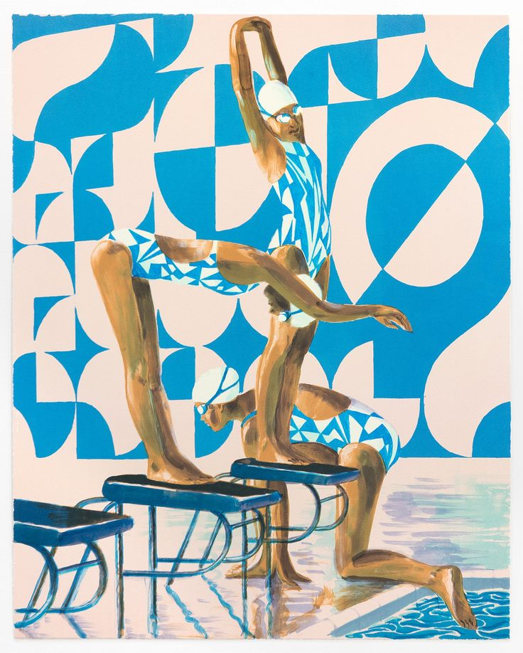 Stroke Tempo by Benjamin Senior. This illustration is a part of limited edition collection of prints that capture the spirit of Team GB at the 2016 Rio Olympics, commissioned by Counter Editions