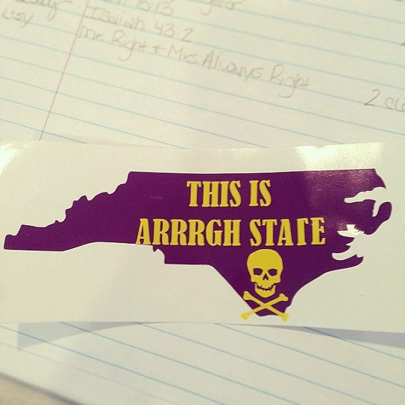 East Carolina University This is Arrrgh by thesouthernbrunette1, $6.00 #ECU #EastCarolinaUniversity